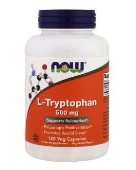Now Foods L-Tryptophan 500 mg 120 Veg Caps