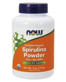 Now Foods Zertifiziertes Bio-SpirulinaPulver (113 g)