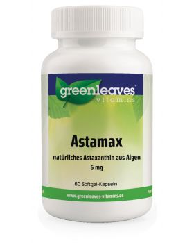 Green Leaves ASTAMAX (ASTAXANTHIN) 6 MG 60 softgels