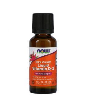 Now Foods Flüssiges Vitamin D-3, Extra Stärke, 1.000 IU, 30 ml