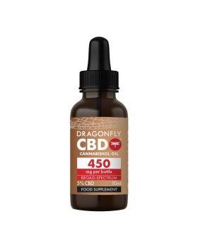 Dragonfly CBD Cannabidiolöl Cannabis Breit-Spectrum 450 mg 5% - 10ml