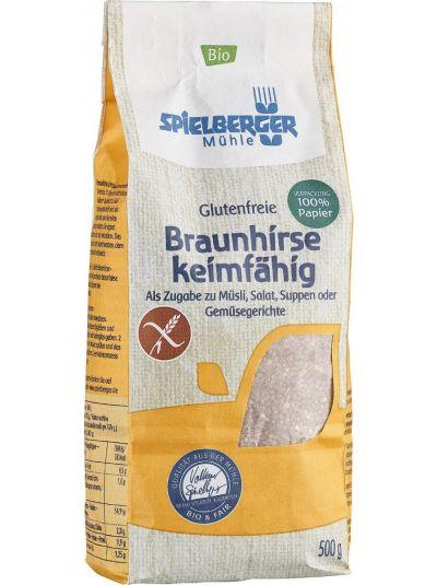 SPIELBERGER MÜHLE Glutenfreie Demeter Braunhirse keimfähig 500G