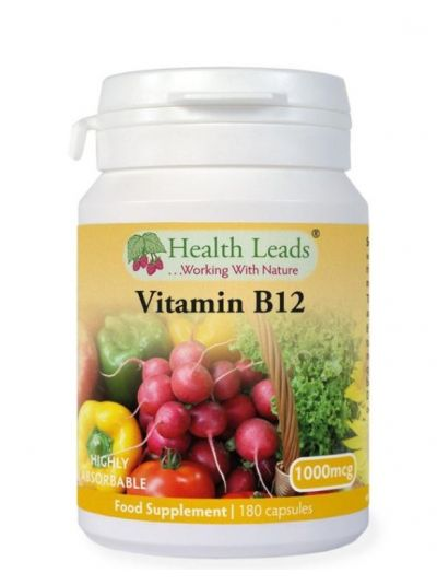 Health Leads Vitamin B12 Methylcobalamin 1000mcg x 180 Kapseln