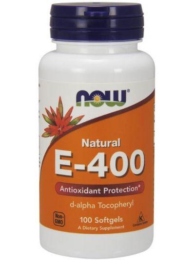 Now Foods Natürliches E-400, 100 Softgel-Kapseln