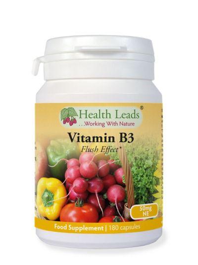HEALTH LEADS VITAMIN B3 NIACIN 50 MG X 180 KAPSELN