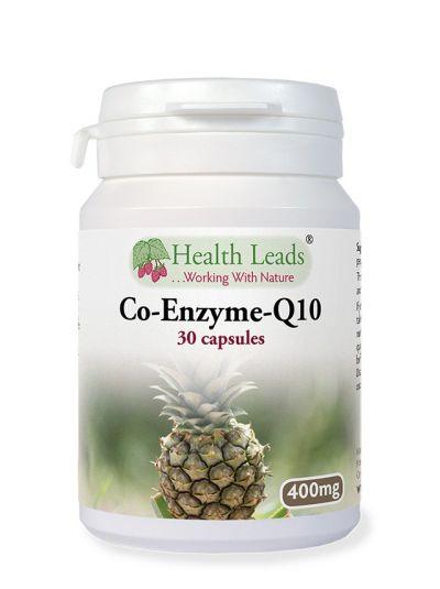 Co-Enzym-Q10, Hohe Dosis, 400 mg, 30 Kaps