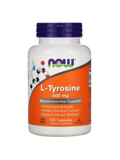 Now Foods L-Tyrosin 500 mg, 120 Kapseln