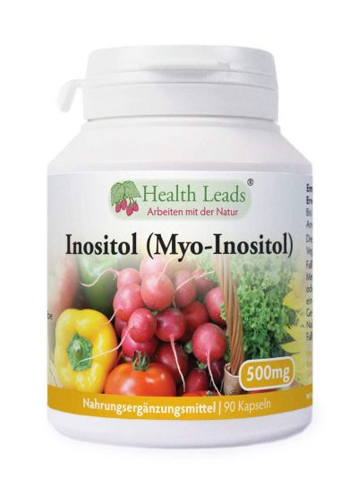 Health Leads Inositol (Myo-Inositol) 500mg x 90 Kaps