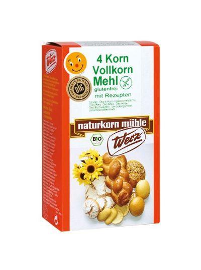 Werz Naturkornmühle 4-Korn-Vollkorn-Mehl glutenfrei 500g