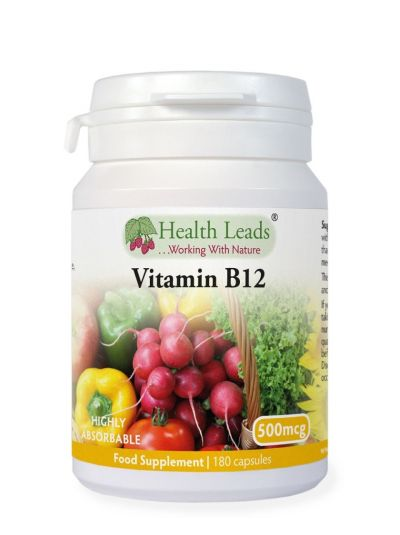 Health Leads Vitamin B12 (Methylcobalamin) 500mcg 180 Kapseln