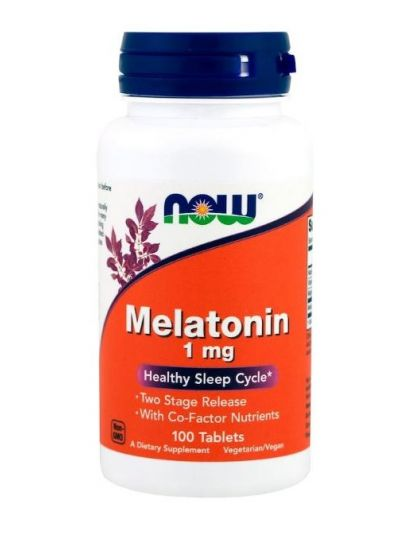 Now Foods Melatonin 1 mg mit B3+B6+Mg 100 Tabletten