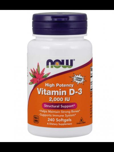 Now Foods, Vitamin D-3, 2.000 IE, 240 Softgelkapseln