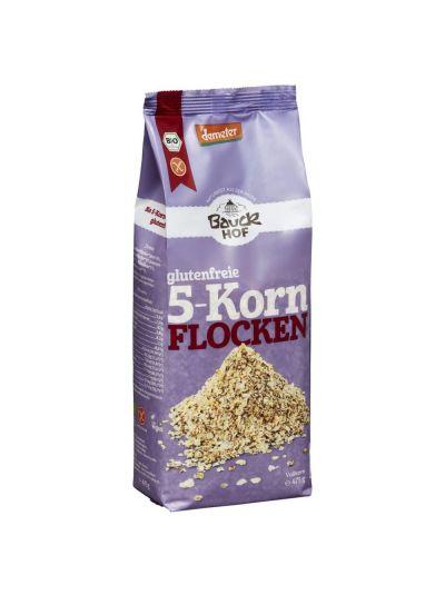 Bauckhof Demeter 5-Korn Flocken glutenfrei Bio 475g