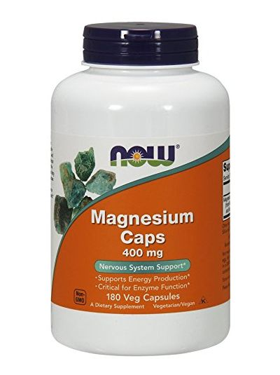 Now Foods Magnesium 400 mg 180 Kapseln