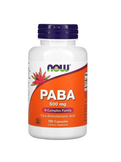 Now Foods PABA 500 mg 100 Kapseln