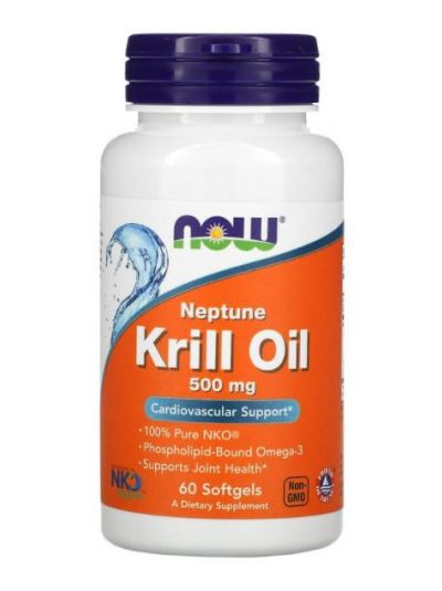 Now Foods, Neptune Krillöl, 500 mg, 60 Softgels