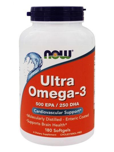 Now Foods Ultra Omega-3 500 EPA/250 DHA 180 Weichgelatinekapseln