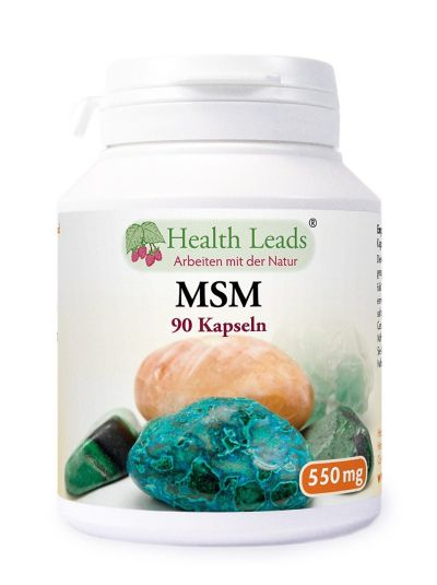 Health Leads MSM (Methylsulphonylmethan) 550 mg x 90 kapseln