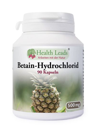 Health Leads Betain Hydrochlorid HCL 500mg x 90 Kapseln