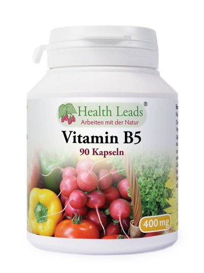 HEALTH LEADS Vitamin B5 Pantothensäure 400 mg x 90 Kapseln