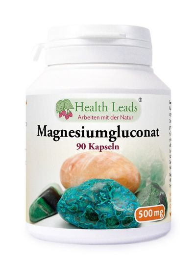 Health Leads Magnesiumgluconat 500mg 90 Kaps