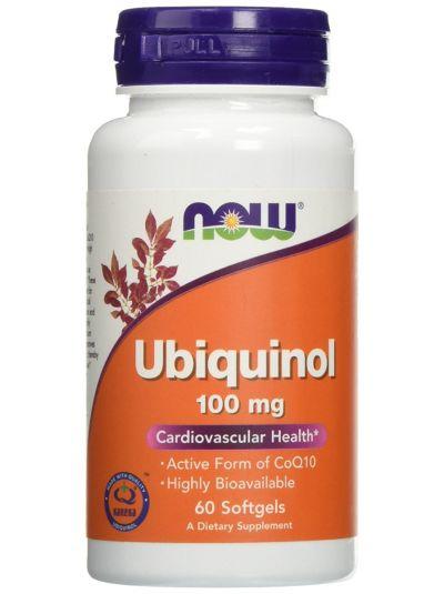 Now Foods Ubiquinol 100 mg 60 Kapseln