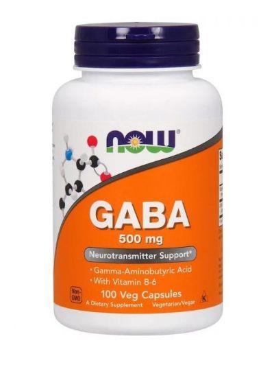 Now Foods GABA 500 mg mit B6 100 pflanzliche Kapseln