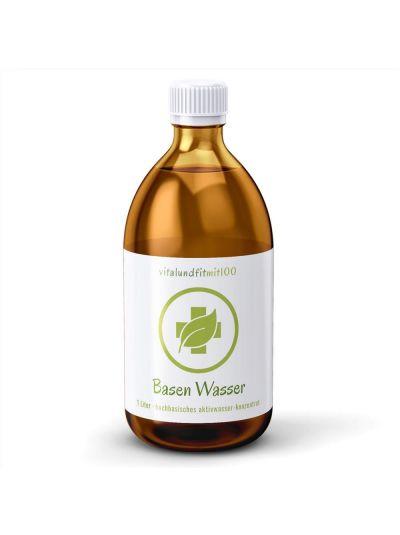 Vitalundfitmit100 Basen-Wasser ph-Regulat Aktivwasser-Konzentrat Braunglas 1000 ml