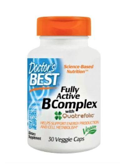 Doctor's Best Voll Aktiver B-Komplex 30 Vegetarische Kapseln