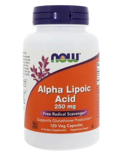 Now Foods Alpha Liponsäure 250 mg 120 Veg-Kapseln