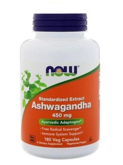 Now Foods Ashwagandha Ekstrakt 450 mg 180 vegetarische Kapseln