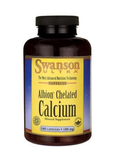 Swanson Albion Chelatisiertes Kalzium Glycinate 180 mg 180 Kapseln