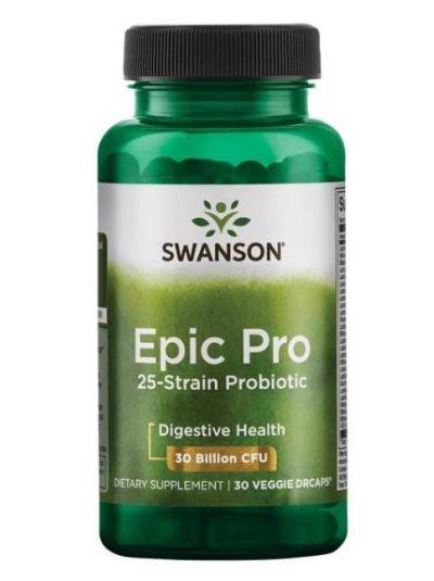 Swanson Epic Pro 25-Stämme probiotika (ohne Inulin) 30 Kapseln