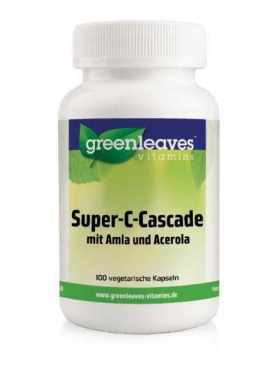 Green Leaves SUPER-C-CASCADE Aus 6 Quellen und time-release 100 Kapseln