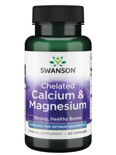 Swanson Ultra Albion Chelated Calcium & Magnesium Glycinate 60 Kapseln