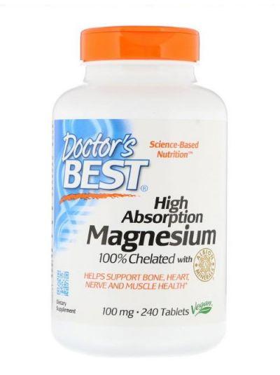 DOCTOR'S BEST MAGNESIUM HOHE ABSORPTION CHELATIERTES / ELEMENTARES 240 TABLETTEN