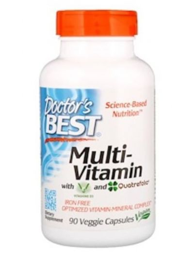 Doctor's Best Multi-Vitamin m. Vitashine D3 + Quatrefolic 90 Kaps