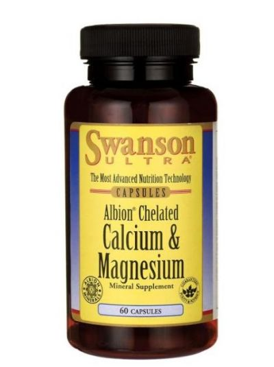 Swanson Ultra Albion Chelated Calcium & Magnesium Glycinate 60 Kapseln