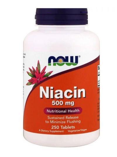 Now Foods Niacin 500 mg 250 Tablets