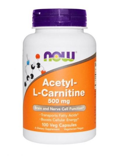 Now Foods Acetyl-L-Carnitine 500 mg 100 GEMÜSEKAPSELN