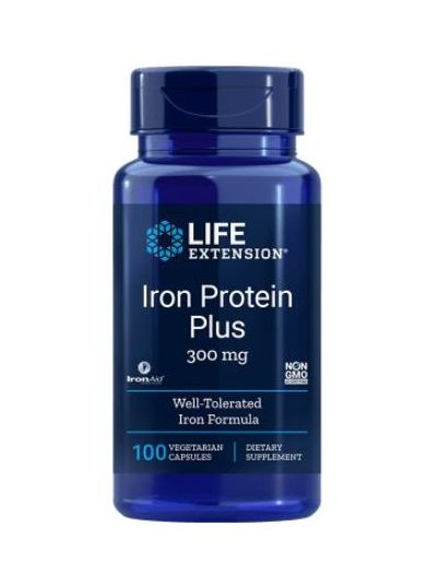 Life Extension IRON PROTEIN PLUS 300 mg 100 vege Kapseln