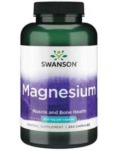 Swanson Magnesium 200 mg 250 Kapseln