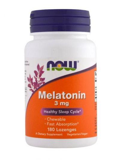 Now Foods Melatonin 3 mg 180 Lutschtabletten