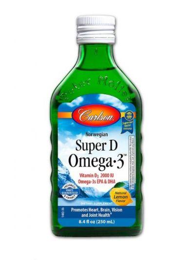 Carlson Labs, Norwegisches Super D Omega-3, natürliches Zitronenaroma, 250 ml
