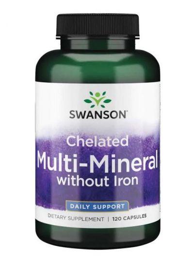 Swanson Albion Chelatisiert / Elementares Multi-Mineral ohne Eisen 120Kaps