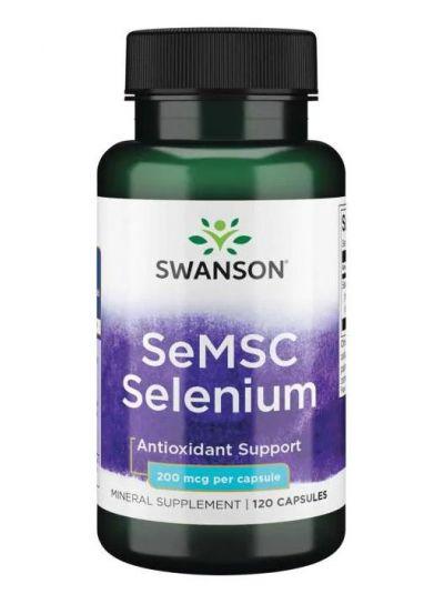Swanson Selen aus Se-Methyl-L-Selenocystein (SeMSC) 200 Mcg 120 Kapseln