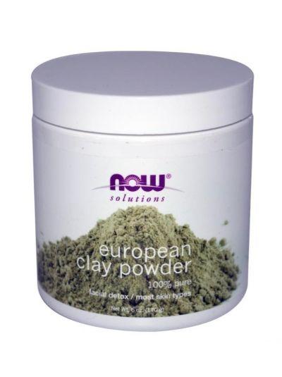 Now Foods Europäische Clay Pulver (Porentiefe reinigung) 170g