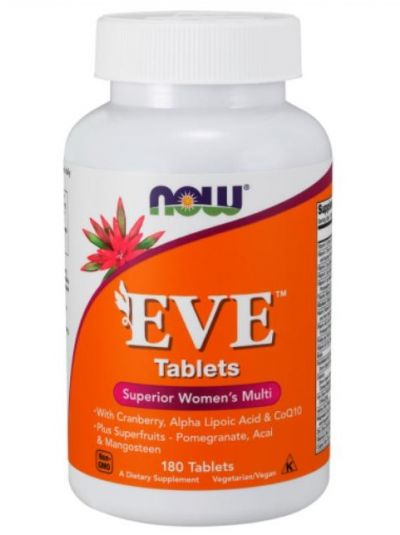 NOW FOODS EVE ERSTKLASSICHES FRAUEN MULTI 180 TABLETTEN