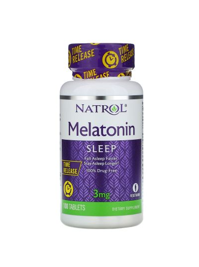Natrol MELATONIN ZEITFREIGABE, 3 MG, 100 TABLETTEN