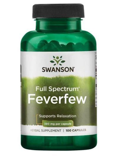 Swanson Premium - Vollspektrum Mutterkraut 380 mg 100 Kapseln